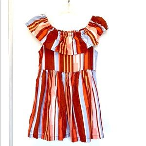 Genuine kids earth tone stripped dress for girls